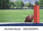 football field low end zone...   Shutterstock . vector #682285891