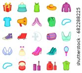clothing icons set. cartoon set ... | Shutterstock .eps vector #682288225