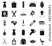 recreation icons set. simple... | Shutterstock .eps vector #682288651