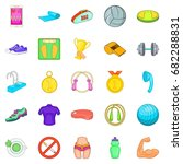 hotiron icons set. cartoon set... | Shutterstock .eps vector #682288831