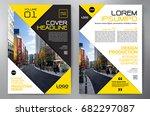 business brochure. flyer design.... | Shutterstock .eps vector #682297087
