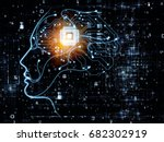 cpu mind series. artistic... | Shutterstock . vector #682302919