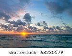 Sunrise Over Atlantic Ocean  F...