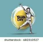 international youth day 12... | Shutterstock .eps vector #682310527