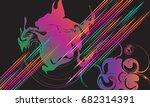 abstract dynamic multicolored... | Shutterstock .eps vector #682314391