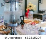 self service table with water... | Shutterstock . vector #682315207