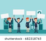 group of young business people... | Shutterstock .eps vector #682318765