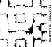 grunge abstract black and white ... | Shutterstock . vector #682319785