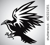 crow logo black and white... | Shutterstock .eps vector #682321351