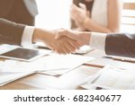 collaboration works by co... | Shutterstock . vector #682340677