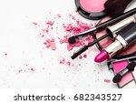 makeup. make up set | Shutterstock . vector #682343527
