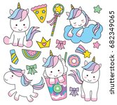 Cute Baby Unicorn Vector...