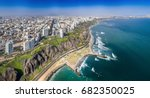 lima  peru  aerial view of... | Shutterstock . vector #682350025