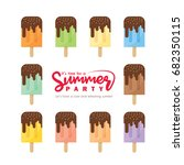 set of various flavor popsicles ...   Shutterstock .eps vector #682350115