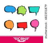 speech bubble hand drawn | Shutterstock .eps vector #682351879