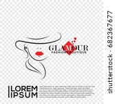 glamour boutique fashions logo... | Shutterstock .eps vector #682367677