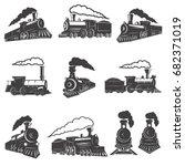 Set Of Vintage Trains Isolated...