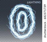 lightning and thunder bolt or... | Shutterstock .eps vector #682371739