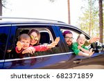 family going on a trip | Shutterstock . vector #682371859