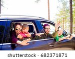 family in a car | Shutterstock . vector #682371871