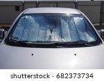 sun reflector windscreen.... | Shutterstock . vector #682373734