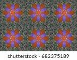 illustration of floral seamless ... | Shutterstock . vector #682375189
