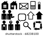web icons. simple pictographs. | Shutterstock .eps vector #68238100