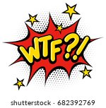 comic book what the fuck effect. | Shutterstock .eps vector #682392769
