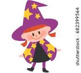 a vector illustration of a girl ...   Shutterstock .eps vector #682399564