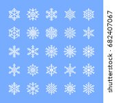 Vector Set Of Snowflake Icons....