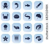 set of 16 food icons set... | Shutterstock .eps vector #682410484
