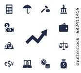 set of 13 finance icons set... | Shutterstock .eps vector #682411459