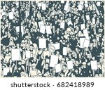 illustration of protesting... | Shutterstock .eps vector #682418989