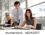 business people working in the... | Shutterstock . vector #68242057