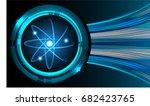 dark blue color light abstract... | Shutterstock .eps vector #682423765