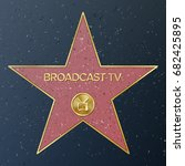hollywood walk of fame. vector... | Shutterstock .eps vector #682425895