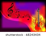 illustration music background... | Shutterstock .eps vector #68243434