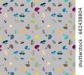 colored random seamless pattern ... | Shutterstock .eps vector #682438804
