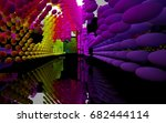 abstract dynamic interior with...   Shutterstock . vector #682444114