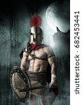 ancient warrior or gladiator...   Shutterstock . vector #682453441