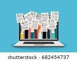 applying for job  giving cv ... | Shutterstock .eps vector #682454737