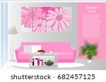 the interior of the living room.... | Shutterstock .eps vector #682457125