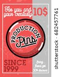 color vintage pins production... | Shutterstock .eps vector #682457761