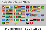 african countries big flag set. ... | Shutterstock . vector #682462591