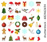 christmas and winter icon...   Shutterstock .eps vector #682462654