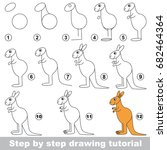 kid game to develop drawing... | Shutterstock .eps vector #682464364