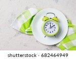 alarm clock with bells on the... | Shutterstock . vector #682464949