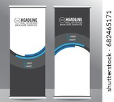 roll up business brochure flyer ... | Shutterstock .eps vector #682465171