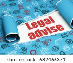 law concept  red text legal... | Shutterstock . vector #682466371