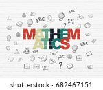 studying concept  painted... | Shutterstock . vector #682467151